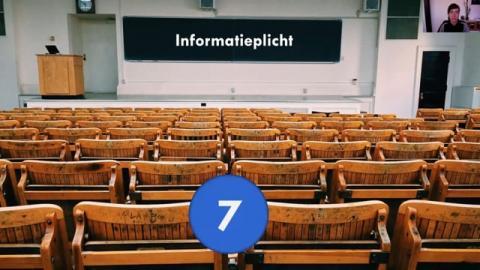 Stap 7: De informatieplicht | De organisatie moet de vrijwilliger informeren voor hij met zijn activiteiten start.  In deze video kom je te weten welke informatie de vrijwilliger moet krijgen.