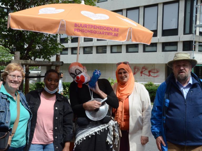 Participants au Thé au Balcon