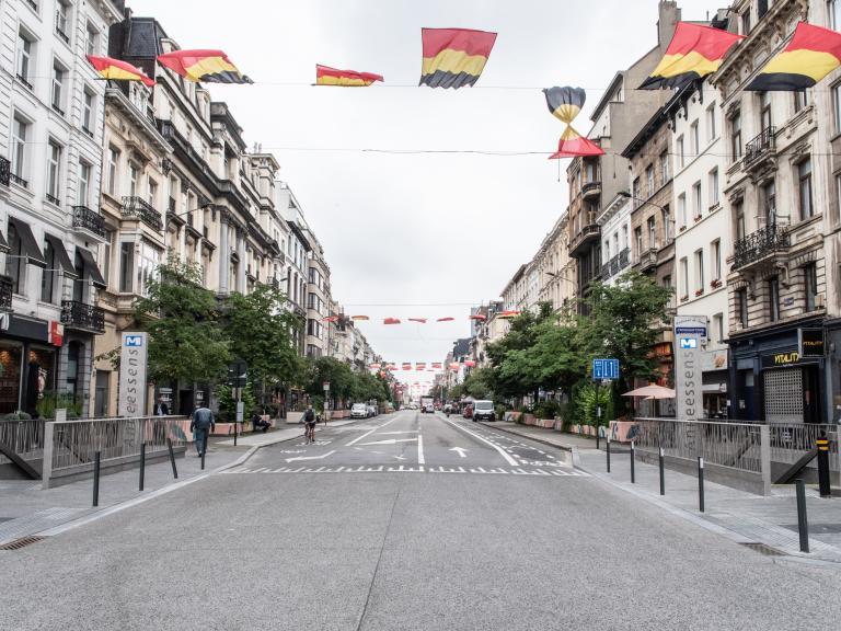 straat in Brussel